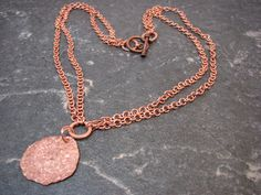 Items similar to Copper Hammered Pendant on a Copper Handmade Chain - Upcycled Recycled Repurposed on Etsy Upcycle, Gold Necklace, Copper, Necklaces, Chain, Pendant, Handmade, Etsy, Jewelry