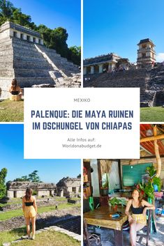 Palenque in Mexiko musst du gesehen haben! Die schönsten Mayaruinen von ganz Mexiko liegen versteckt mitten im Dschungel im Bundesstaat Chiapas. Reisetipps für deinen Besuch, Eintritt, wie du hinkommst und was du sonst noch so in Palenque erleben kannst, findest du bei uns. Maya, Roadtrip, Wind Turbine, Palenque, Photos, Latin America, Central America, Jungles, Ruins