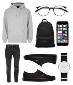 """Untitled #110"" by wleners on Polyvore featuring River Island, Topman, Skagen, Balenciaga, Vans, Off-White, men's fashion and menswear"