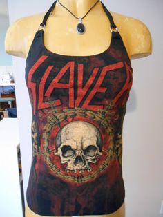Slayer halter top Diy heavy metal rock Band by harleyone on Etsy, $27.00