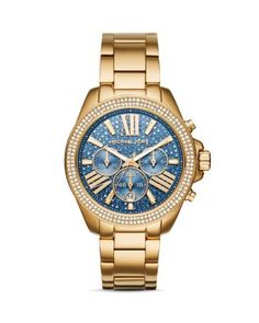 Michael Kors Wren Pavé Watch, 41.5mm | bloomingdales.com