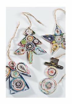 BNWT Namaste Recycled Paper Christmas Decorations | eBay