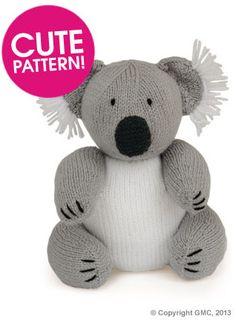 Knitted Koala - Free Pattern - PDF Version