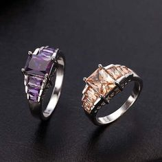 1PC moda auriu umplut inel de safir pentru femei