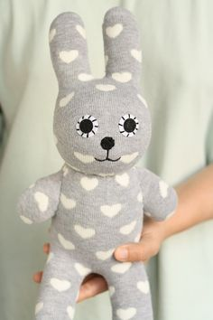 T21  Personalized     plush  bunny  stuffed animal by Toyapartment, $16.90