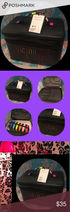 Victoria's Secret Beauty Box 2 Compared Beauty Box with Additional Make Up Bag. Upper compartment with inserts for brushes or pencils, Lipstick 💄 etc. Victoria's Secret Bags Cosmetic Bags & Cases