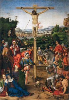 Andrea SOLARI (1460-1525) Christ on the Cross, 1503 - oil on wood; H. 111.5 cm, W. 77 cm, Louvre INV 61