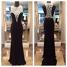 New arrival at Mia Bella! Stunning new dress by Jovani. Call for more details! (858)481-4900. mia bella couture. California Glam. jovani. jovani fashions. black dress. breathtaking. gorgeous. head turner. wow factor. red carpet. runway. hollywood. elegant. glam. high fashion. style.