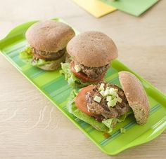 """""""Yummy burgers packed with extra goodness."""" - Jenny O'Dea, Nutritionist, Danone Baby Nutrition These burgers are also great to cook for all the family at summer barbecues. You can make them bigger for the adults in the family. Delicious Burgers, Summer Barbecue, Big Meals, Recipe Of The Day, Salmon Burgers, Hamburger, Dinner Recipes, Veggies, Nutrition"""