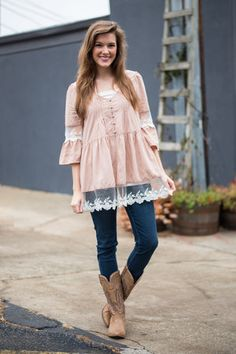 Everything And More Blouse, Taupe
