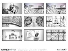 FamousFrames Storyboards, Animatic Artists, Storyboard Artists, Mercer Boffey