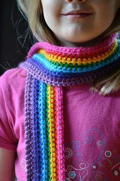Rainbow scarf - via @Craftsy