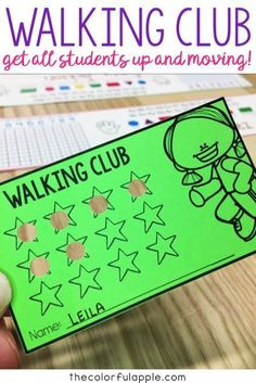 An outdoor recess activity for elementary school students to get them up and moving! Includes a free card template!