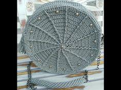 Tutorial borsa uncinetto rotonda / crochet circle bag - YouTube