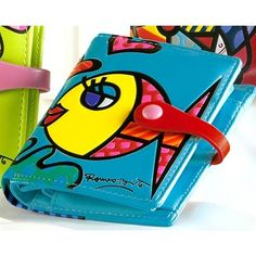 BRITTO Small Blue Fish Wallet
