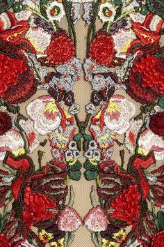Alexander Mcqueen, Designer, Pre-Autumn/Winter 2012, Embroidered Silk Tulle Off The Shoulder Gown (detail)