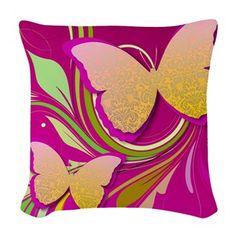 #Butterfly Swirl Woven Throw Pillow $26 #homedecor