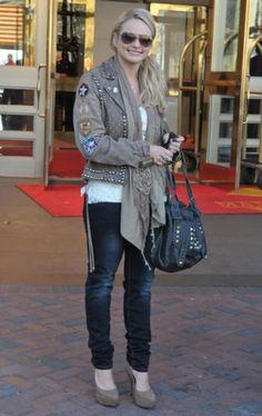 Miranda Lambert in studded jacket