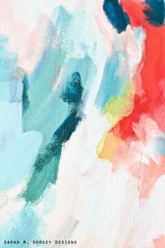 DIY Super Easy Custom Colors to Match Your Interior Beautiful Abstract Painting Tutorial!