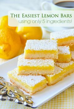 Super Easy Lemon Bars - made with only 5 simple ingredients! Without fail, always a popular recipe every single holiday occasion, even Thanksgiving. The latest addition to our collection of #RockRecipes100Cookies4Christmas .