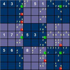 Sudoku diabolique avec 17 valeurs initiales tir de la liste gordon royle sudoku sword sword - Grille de sudoku diabolique ...