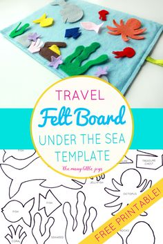 "Travel felt boards are a great activity for kids stuck in a plane or car. This fun ""Under the Sea"" play set is a summery addition to the original set."