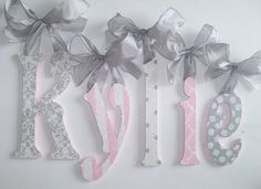 Wood Letters - Wooden Wall Letters - Baby Name Letters - Glitter and Sparkle on Etsy, $15.50