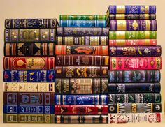 smaugthebookhoarder:  readthebloodybook:All my Barnes & Noble leatherbound classics….. yeah, it's pretty awesome being me right now.   I've reblogged this before but this is just amazing and beautiful and must have cost so much money.