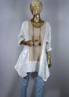 Long tunic,linen,white,hankie hem,sleeves,plus size,bohemian,lagenlook,layered look,top,dress,maternity,shabby chic,XS-3XL.Free ship.in USA