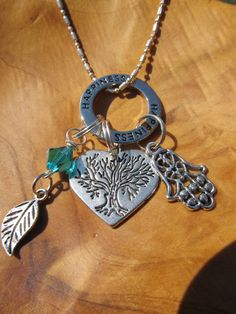 HAPPINESS  Heart Tree of Life Necklace with by DestinyAccessory, $24.00