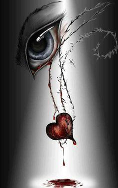 Broken Bleeding Heart Drawing 1000 ideas about bleeding heart tattoo . Dark Fantasy Art, Fantasy Kunst, Broken Heart Drawings, Broken Heart Art, Bleeding Heart Tattoo, Broken Heart Tattoo, Eyes Artwork, Bild Tattoos, Sad Art