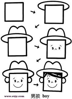 简笔画,简笔画,简笔画,How to Draw , Study Resources for Art Students , CAPI ::: Create Art Portfolio Ideas at milliande.com, Art School Portfolio Work ,Whimsical, Cute, Kawaii,how to draw cartoon people