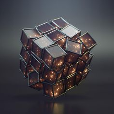 """Cubix Rube Raw & Rendered is the design pseudonym for Joey Camacho. The Raw & Rendered shop features a high quality, limited selection of his """"Progress Before Perfection"""" artwork. Blender 3d, Tachisme, Graphisches Design, Cube Design, Organic Art, 3d Studio, Futuristic Technology, Technology Gadgets, 3d Artwork"""