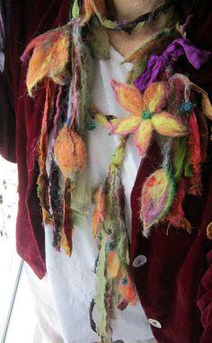 autumn fairy curtains - enchanted forest fairy garland -   autumn garden daydream via Etsy.