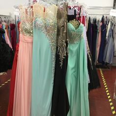 #Jovani #mint #green #prom #dress with #beads #size2