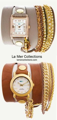 wrap watches with the bracelets built in - LOVE.
