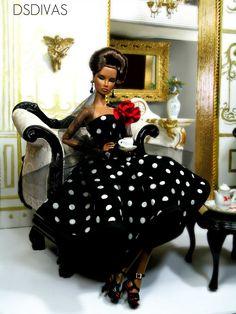 beautiful  polka dot dress