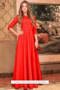 """Длинное красное платье """"Николь"""""""