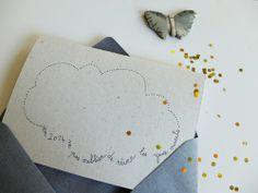 Carte pour des voeux de rêve. © Papillon*Papillonnage