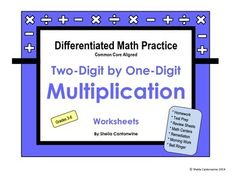 Differentiated Math Practice: Two-Digit by One-Digit Multi