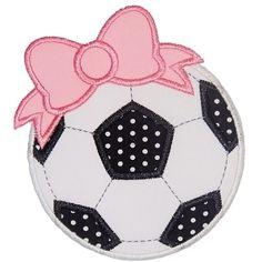 Bow Soccer Ball Applique