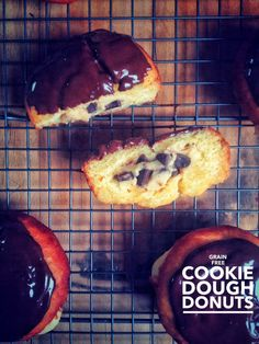 Grain Free Cookie Dough Stuffed Donuts. (Gluten/Nut/Dairy Free) | Brittany Angell