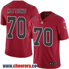 Men's Atlanta Falcons #70 Jake Matthews Red 2016 Color Rush Stitched NFL Nike Limited Jersey