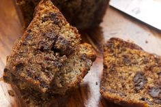 Chocolate Chunk Banana Bread combines dark chocolate and banana bread for a wonderfully delicious quick bread! - Bake or Break
