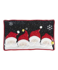 Take a look at this Red & Black Jolly Santa Platter by GANZ on #zulily today!