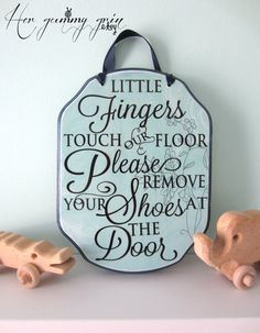 REMOVE Your SHOES kids Sign Custom Made For You by HerGummyGrin, $20.00