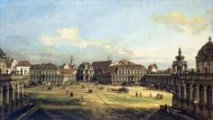Bernardo Bellotto - The Hermitage Museum ГЭ-205. Zwinger in Dresden (1752)