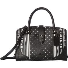 COACH Printed Mercer 24 (DK/Skull Bandana) Handbags ($350) ❤ liked on Polyvore featuring bags, handbags, shoulder bags, crossbody purses, leather shoulder handbags, coach shoulder bag, crossbody cell phone purse and leather man bags