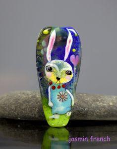 cute alien lampwork glass focal glass bead sculpture bead by izzybeads sra uk lampwork favorite handmade artfire u0026 etsy items pinterest