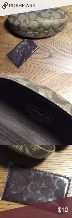 Coach sunglasses + case...excellent condition Coach sunglasses + Case...only wore for one week.  I had to get prescription sunglasses-:( Coach Accessories Glasses